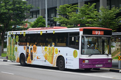 SBS Transit Volvo B10M Mark 4 Duple Metsec DM3500 (nighteye) Tags: bus volvo singapore if mk4 mark4 sbstransit b10m duplemetsec dm3500 fruitamin service93  sbs2771x