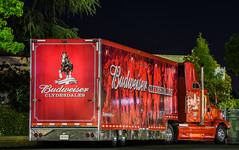 budweiser clydesdales transportation (pbo31) Tags: california red summer horses color beer june night truck dark nikon king transport ad fair commercial bayarea eastbay budweiser pleasanton grounds alamedacounty clydesdales 2016 boury pbo31 d810