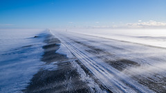 (dawvon) Tags: road city travel winter snow ice nature season landscape iceland europe traffic south snapshot glacier snaps powerline nordic sland vatnajkull suurland snowdunes southernregion vatnajkullglacier republicoficeland lveldisland vatnajkullnationalpark