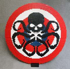 Captain America's Hydra Shield (MaverickDengo) Tags: lego moc sheild hydra red skull captain america evil nooo say it aint built ldd