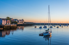 Harbor Sunrise (jlucierphoto) Tags: morning water sunrise harbor boat seaside waterfront outdoor massachusetts shoreline sailboats rockport