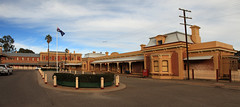 Station Square Junee (Darren Schiller) Tags: morning panorama building station architecture country railway australia newsouthwales streetscape junee