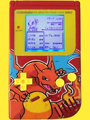*SOLD* Custom Charizard Backlit Gameboy (Pullipprincess) Tags: anime art painting paint geek painted nintendo games videogames gaming pokemon customized custom gameboy charizard