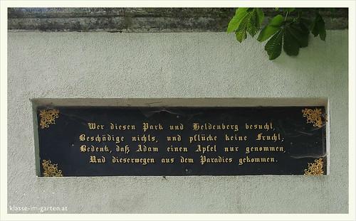 Gedenkstaette Heldenberg, NOE: benimmregeln | 2015-05