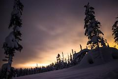 Light pollution (Sannou In The Middle) Tags: longexposure snow night canon lapland neige nuit lightpollution longueexposition muonio laponie pollutionlumineuse canoneos600d