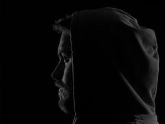 Portrait (kim.brakensiek) Tags: light portrait dark beard hoodie ernst hasselblad mann pullover profil charakter schwarzweis