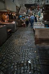 stone pavement in fish market (kasa51) Tags: sign japan tokyo tsukiji fishmarket stonepavement