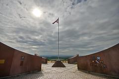 American war memorial (Rich3012) Tags: world two sky sun france memorial war flag wwii alsace sigolsheim