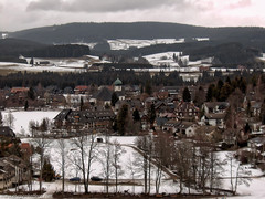 Black Forest (donscara) Tags: 2004 germany blackforest travel snow landscape instagram photooftheday town winter