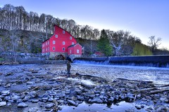 Red Mill NJ (a2roland) Tags: trees red mill water museum landscape fisherman rocks view scenic nj norman zeb a2roland