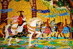 Happily Ever After. (jordanhall81) Tags: world park horse lake castle art tile amusement orlando princess florida mosaic magic kingdom prince disney resort vista theme after cinderella charming wdw steed walt ever mk galant medival buena happily lbv