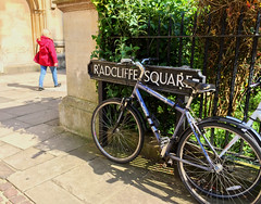 Radcliffe Square, Oxford (tmvissers) Tags: uk england bicycle fence square university oxford radcliffe oxfordshire