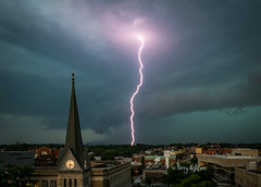 Daytime Doozy - Thunderstorm Roanoke June 15th (Terry Aldhizer) Tags: city church weather virginia memorial roanoke terry daytime thunderstorm lightning dowtown greene doozy aldhizer wwwterryaldhizercom