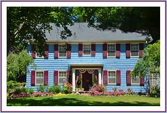 Blue With Burgandy Accents in Historic Ypsilanti (sjb4photos) Tags: michigan ypsilanti washtenawcounty house blue