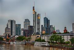 Mainhattan (trx_850) Tags: sky skyline skyscraper river high frankfurt main towers mainhattan