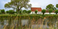 Damme, the house on the canal (wellingtonandsqueak) Tags: canal belgium c1 damme