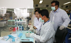 Regional Workshop on utilization and harmonization of PREDICT protocols in the animal health sector_-9 (USAID Asia) Tags: usaid thailand blood asia wildlife health laboratory samples disease lifestock