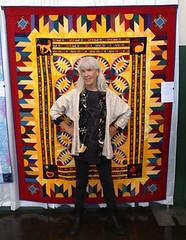 Laura Lee Fritz: Quilts, Quilting, and Wearable Folk Art (beppesabatini) Tags: california richmond bayarea artsandcrafts kpfa craftsfair artsfair cranewaypavilion 941kpfa 2ndannualkpfasummerartsfair2016 kpfasummerartsfair