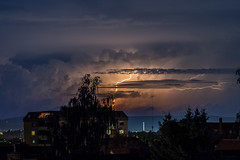 lightning-show last night (grapfapan) Tags: urban night thunderstorm lightning
