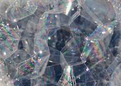 Rainbow Hexagonal Bubbles (Helen Orozco) Tags: shapes bubbles hexagon hmm macromondays cannonrebelsl1