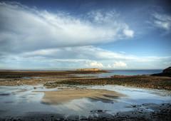 Longis Beach and Fort Raz on Alderney (neilalderney123) Tags: beach clouds landscape for olympus alderney raz omd longis 2016neilhoward