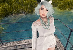 When I Met You In The Summer (Cryssie Carver) Tags: secondlife second life sl avatar uber pulse thefantasycollective the fantasy collective theproject7 project 7 fishystrawberry fishy strawberry anlarposes an lar poses insol ikon catwa maitreya truth ama yummy blithe