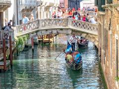 Canal Crowds (stephencurtin) Tags: venice people italy bridges crowds gondolas