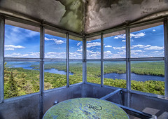Bald Mountain Watch Tower, New York (jrcrespinphoto) Tags: park mountain newyork mountains forest adirondacks forestfire watchtower