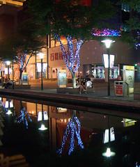 Suzhou bei Nacht (loitz79) Tags: geo:lat=3131321600 geo:lon=12059762700 geotagged baum beleuchtet china chn jiangsusheng nacht reflexion shilu spiegelung suzhou