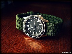Today's 8 July 2016 edc watch... (Stormdrane) Tags: green watch band camo wrist citizen watchband paracord promaster 550cord stormdrane pcord
