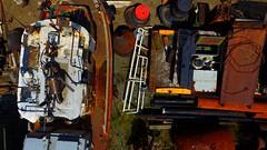 Heavy Metal 3 (Dan Beland) Tags: abstract art nature metal boat rust colorful artistic britishcolumbia abstractart pipes rusty vancouverisland northamerica tugboat abstraction shipyard drydock ladysmith drone dji quadcopter phantom3professional