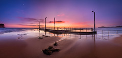 Morning Glow (Rodney Campbell) Tags: water sunrise cpl rgnd09 ocean pool monavale clouds newsouthwales australia au