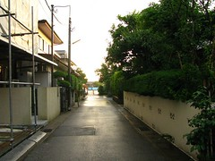 Walking home (ohpapercut) Tags: street summer rain june japan bush alley chiba noedit    6    ohpapercut