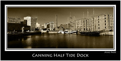 Canning Half Tide Dock Pano. (Mike Parr) Tags: panorama water architecture liverpool docks river mono cityscape pano canon20d riverfront stitched albertdock merseyside rivermersey canninghalftidedock mikeparr liverpoolwaterfront pierheadliverpool liverpoolcitycouncil flickriver opencultureliverpool mikeparrphotography worldheritagewaterfront