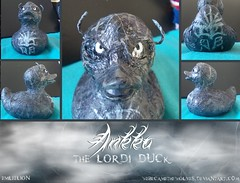 Ankka the Lordi Duck (Emleelion) Tags: monster rock metal toy design duck pattern band vinyl ducks evil rubber plastic novelty gift ducky horror demon custom creature item duckies possessed customised lordi