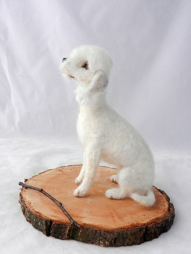 Bedlington Terrier,needle felted