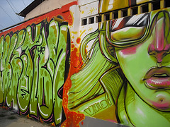 Speed Expressa (Valdi-Valdi) Tags: floripa brazil urban streetart green art beauty face brasil female graffiti artist arte florianpolis spray urbanart urbano rua graff aerosol bomb bombing spraypainting spraycan grafite artederua arteurbana rizo valdi vejam aerosolpainting bigwallwall valdivaldi