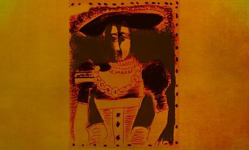 """Representación de Dama de la Nobleza, de Lucas Cranach el Joven (1564), ilustración y paráfrasis de Pablo Picasso (1958). • <a style=""""font-size:0.8em;"""" href=""""http://www.flickr.com/photos/30735181@N00/8746771211/"""" target=""""_blank"""">View on Flickr</a>"""