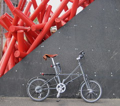 United and Industrious (Soggy Semolina) Tags: bicycle greenwich publicart artinstallation moulton northgreenwich tsr moultonbicycle se10 moultontsr unitedandindustrious