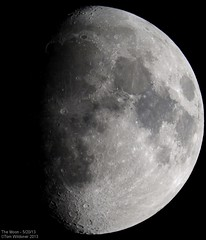 Tonight's Moon May 20, 2013 (Tom Wildoner) Tags: sky moon night canon telescope astrophotography astronomy nightsky universe solarsystem meade tomwildoner