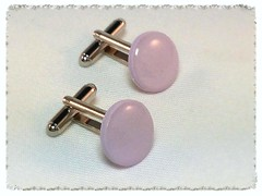 PolyGlass cufflinks in Soft Lilac