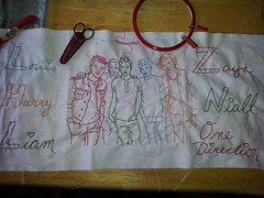 2013-04-10 13.13.56 (aprilsongstressdesigns) Tags: handwriting quilt embroidery 1d redwork onedirection harrystyles louistomlinson zaynmalik liampayne niallhoran aprilsongstress