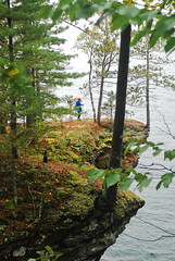 On the Edge (nikons4me) Tags: sea wisconsin shoreline caves lakesuperior apostleislands mawikwebay