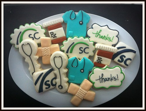 Doctor retirement party cookies