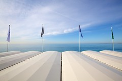 Not a Ripple or Flutter (Mike Franks) Tags: holiday france beach nice cotedazur flags promenadedesanglais 1635mm belleepoque