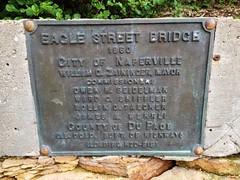 Plaque near the river in Naperville, IL (princecharm23) Tags: bridge naperville