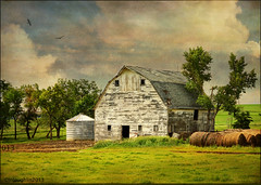Old Barn with Bales (keeva999) Tags: texture abandoned rural nikon country rustic barns iowa hss d3200 memoriesbook skeletalmess lenabemanna