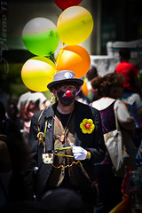 Sad Clown (JVierno77) Tags: flower color canon clown balloon pride statenisland 70300mm 60d