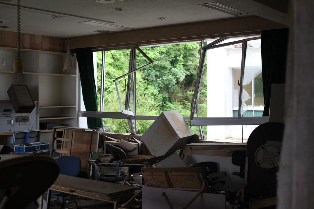 Scene of tsunami debris
