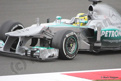 Nico Rosberg in Free Practice 2 at the 2013 British Grand Prix
